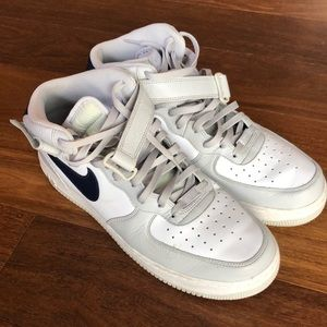 Air Force '82 High Tops Navy/White/Grey